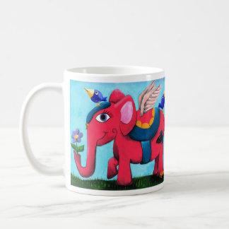 Pink Flying Elephant Coffee Mug