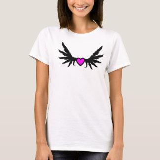 Pink Flying Heart Customizable  Decor Design T-Shirt