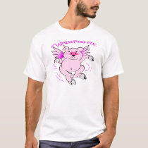 Pink Flying Pig When Pigs Fly T-Shirt
