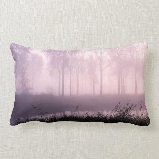 Pink foggy morning lumbar pillow