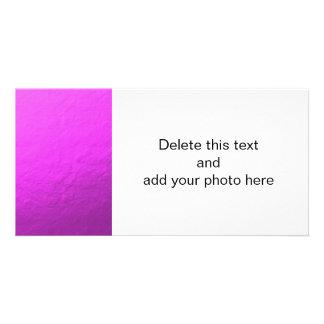 Pink Foil Printed Photo Card