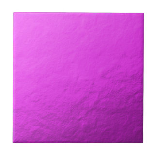 Pink Foil Printed Small Square Tile