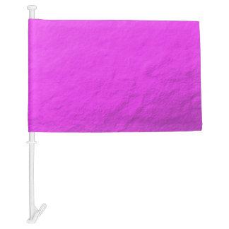 Pink Foil Printed Car Flag
