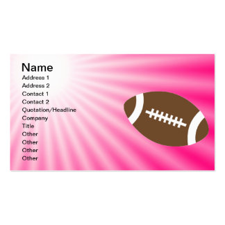 Pink Football Double-Sided Standard Business Cards (Pack Of 100)