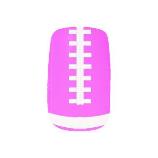 Pink Football Fingernail Art Wraps Minx Nail Art