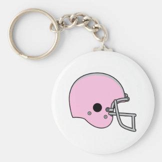 Pink Football Helmet Keychain