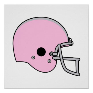 Pink Football Helmet Poster
