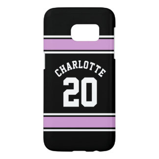 Pink Football Jersey Novelty Personalized Name Samsung Galaxy S7 Case