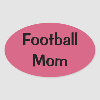 Pink Football Mom Oval Stickers
