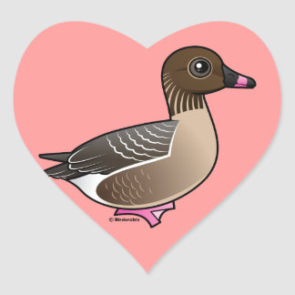 Pink-footed Goose Heart Sticker