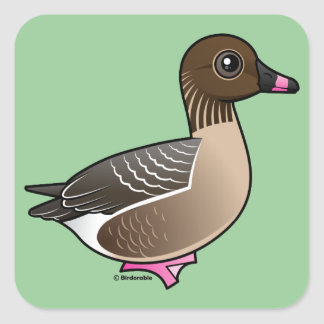 Pink-footed Goose Square Sticker
