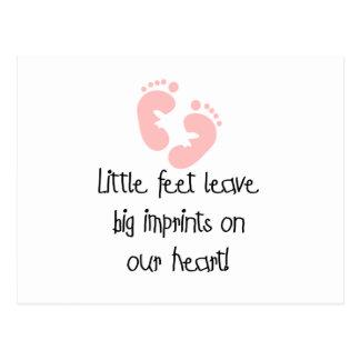 Pink Footprints Little Feet Big Imprints Postcard