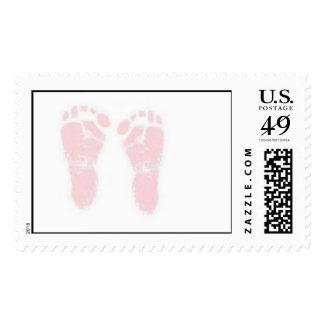 Pink Footprints Postage