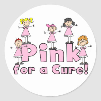 Pink For a Cure Stickers