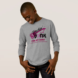 Pink for Aunt Breast Cancer Awareness Shirt