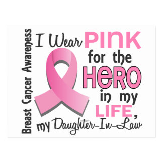 Pink For Hero 3 Daughter-In-Law Breast Cancer Postcard