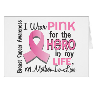 Pink For Hero 3 Mother-In-Law Breast Cancer Card