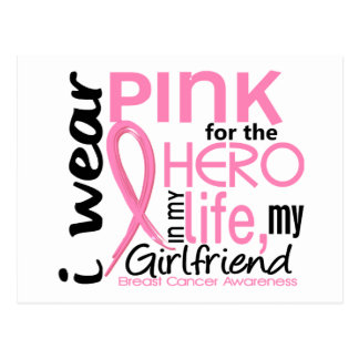 Pink For Hero In Life 2 Girlfriend Breast Cancer Postcard