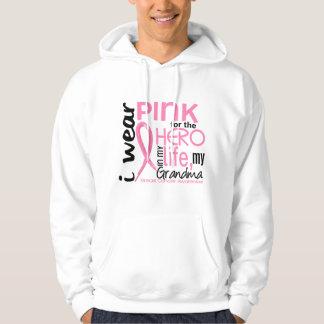 Pink For Hero In Life 2 Grandma Breast Cancer Hoodie