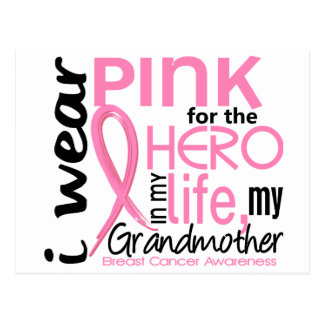 Pink For Hero In Life 2 Grandmother Breast Cancer Postcard