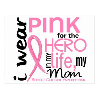 Pink For Hero In Life 2 Mom Breast Cancer Postcard