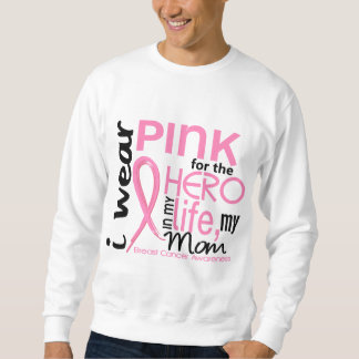 Pink For Hero In Life 2 Mom Breast Cancer Sweatshirt
