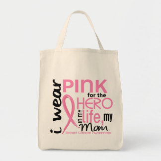 Pink For Hero In Life 2 Mom Breast Cancer Tote Bag