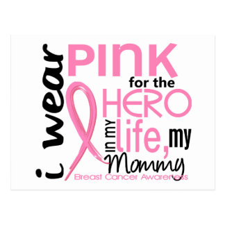 Pink For Hero In Life 2 Mommy Breast Cancer Postcard