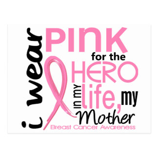 Pink For Hero In Life 2 Mother Breast Cancer Postcard
