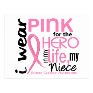 Pink For Hero In Life 2 Niece Breast Cancer Postcard