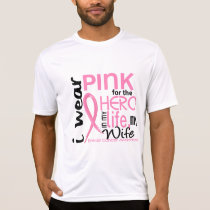 Pink For Hero In Life 2 Wife Breast Cancer T-Shirt