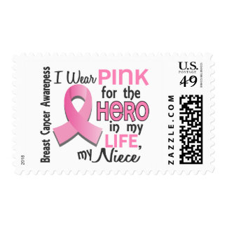 Pink For Hero In My Life 3 Niece Breast Cancer Postage Stamps