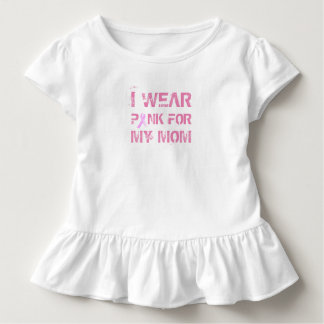 Pink for My Mom Breast Cancer Awareness Ruffle Tee