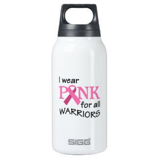 PINK FOR WARRIORS 10 OZ INSULATED SIGG THERMOS WATER BOTTLE