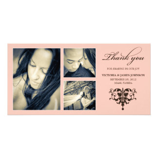 PINK FORMAL COLLAGE | WEDDING THANK YOU CARD