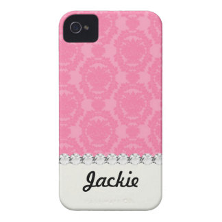 pink formal damask pattern iPhone 4 covers
