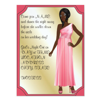 Pink Formal Party or Bachelorette Invitation