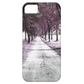 pink forrest gump road iPhone SE/5/5s case