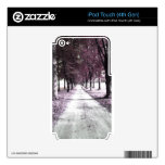 pink forrest gump road iPod touch 4G decals