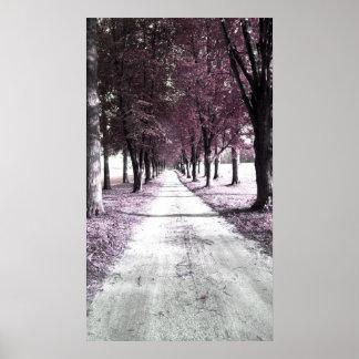 pink forrest gump road poster