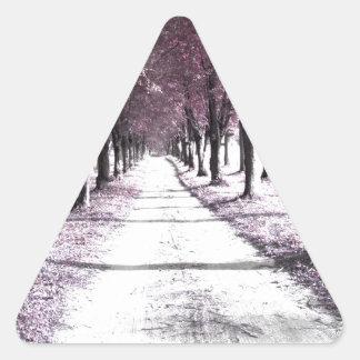 pink forrest gump road triangle sticker