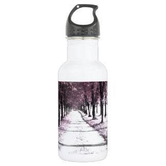 pink forrest gump road water bottle