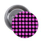 Pink four leaf clover Irish design Buttons