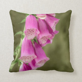 Pink Foxgloves Pillow/Cushion Throw Pillow