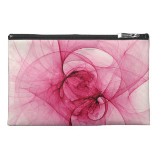 Pink Fractal Art Travel Accessory Bags