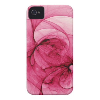 Pink Fractal Art iPhone 4 Covers