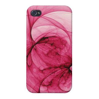 Pink Fractal Art iPhone 4/4S Cases