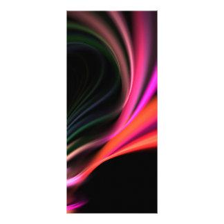 Pink Fractal Art Twirl Textured Customized Rack Card