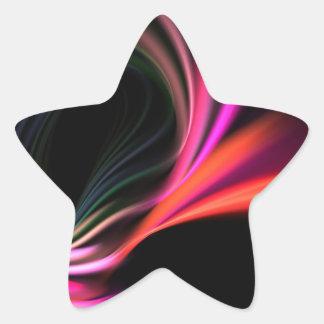 Pink Fractal Art Twirl Textured Sticker