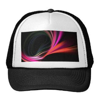 Pink Fractal Art Twirl Textured Trucker Hat